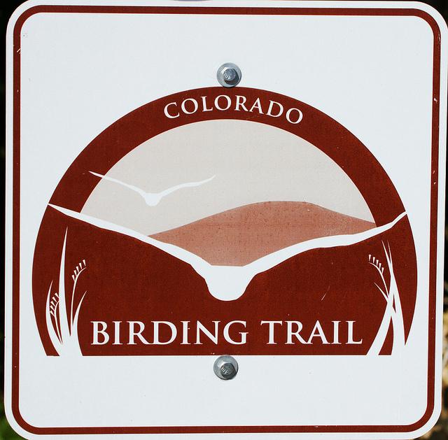 Colorado Birding Trail sign